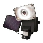 Solar Powered Wireless Outdoor Video Security Camera and Floodlight, Motion-Activated - Black