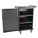 36Port AC Charging Cart Storage Station Chromebook Laptop Tablet
