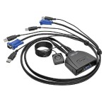 2-Port USB / VGA KVM Switch Cable w/ Audio & Peripheral Sharing