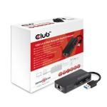 USB 3.0 Hub 3-Port with Gigabit Ethernet