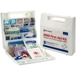 50 Person First Aid Kit, Plastic Case with Dividers