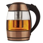 1.8 Liter Electric Glass Kettle with Tea Infuser