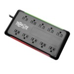 10-Outlet Surge Protector, 6 ft. Cord, 2880 Joules, Black Housing