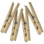 Wood Clothespins with Spring - 100 pk