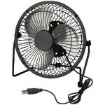 USB-Powered Desk Fan (Black)