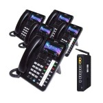 X50 System Bundle with (5) X4040 Vivid Color Display IP Phones