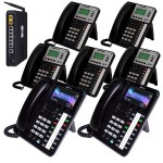 X50 System Bundle with (7) Phones Includes (2) X4040 Vivid Color Display IP Phone and (5) X3030 IP Phones
