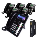 X25 System Bundle with (1) X4040 and (5) X3030 IP Phones