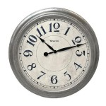 15.5 GALVANIZED WALL CLOCK