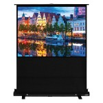 "100"" Diagonal (60x80) Portable Floor Rising Screen, Video Format, Matte White Fabric"