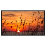 """120"""" Diagonal (59x105) Fixed Frame Projector Screen, HDTV Format, Matte White Fabric"""