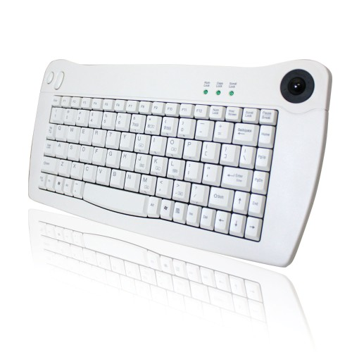 Adesso Mini-Trackball Keyboard - PS/2 - White