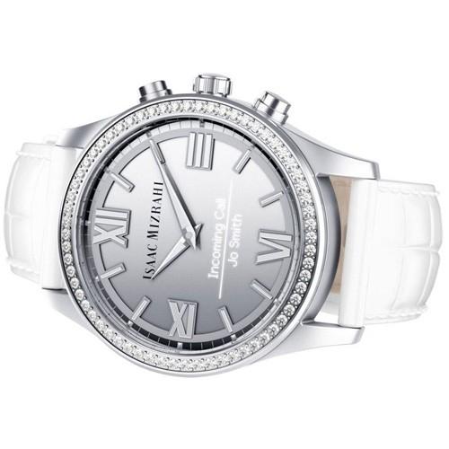 Isaac Mizrahi Silver Smartwatch Gray Strap
