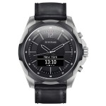 Titan Smartwatch Titanium Black Strap