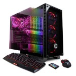 Gamer Supreme Liquid Cool SLC8560PCM w/ AMD Ryzen 7 1800X 3.6GHz CPU, 32GB DDR4, NVIDIA GTX 1080 Ti 11GB, 3TB HDD, 480GB SSD, 802.11AC WIFI, Win 10 Home 64-Bit, Custom RGB Lighting, 7 Colors Gaming Keyboard & USB Gaming Mouse
