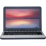 "Chromebook C202SA-YS01 Intel Celeron N3060 Dual-Core 1.60GHz Notebook PC - 2GB RAM, 16GB eMMC, 11.6"" HD, 802.11ac, Bluetooth 4.2, Webcam - Dark Blue/Silver (Open Box Product, Limited Availability, No Back Orders)"