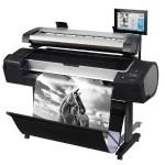 "DesignJet HD Pro MFP - 44"" multifunction printer - color - ink-jet - Roll (42.01 in) (original) - Roll (44 in x 300 ft), 44 in x 66 in (media) - up to 570.5 sq.ft/hour (printing) - 2 rolls - USB 2.0, Gigabit LAN"
