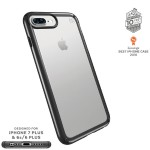 Presidio Show iPhone 7 Plus - Back cover for cell phone - polycarbonate - black, clear - for Apple iPhone 7 Plus