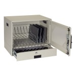 Wallmount Charging Locker - Phone / tablet / notebook charging station - 12 output connectors (NEMA 5-15P) - gray