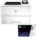 LaserJet Enterprise M506dh Printer + 87A Black LaserJet Toner Cartridge
