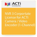 NVR 3 Corportate License for ACTi Camera / Video Encoder (1-Channel)