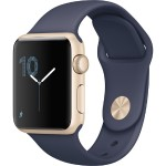Watch Series 1, 38mm Gold Aluminum Case with Midnight Blue Sport Band