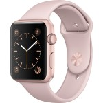 Watch Series 1, 42mm Rose Gold Aluminum Case with Pink Sand Sport Band