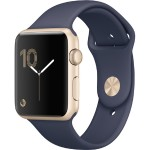 Watch Series 1, 42mm Gold Aluminum Case with Midnight Blue Sport Band