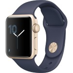 Watch Series 2, 38mm Gold Aluminum Case with Midnight Blue Sport Band