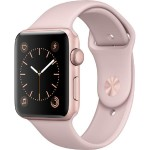 Watch Series 2, 42mm Rose Gold Aluminum Case with Pink Sand Sport Band