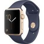 Watch Series 2, 42mm Gold Aluminum Case with Midnight Blue Sport Band