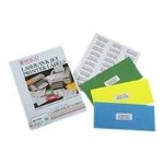 Multi-purpose labels - white - Letter A Size (8.5 in x 11 in) 100 pcs. ( 50 sheet(s) x 2 )