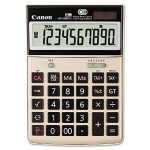 HS-1000TG - Desktop calculator - 10 digits - solar panel, battery - champagne gold
