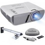 3,200 Lumens WXGA Short Throw LightStream Projector with Interactive Whiteboard Module and Mounting Kit - Bundle