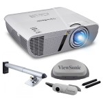 LightStream XGA 1024x768 Networkable Short Throw Projector with Interactive Whiteboard Module and Mounting Kit - Bundle