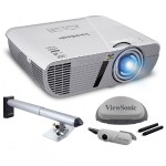 LightStream WXGA 1280x800 Networkable Short Throw Projector with Interactive Whiteboard Module and Mounting Kit - Bundle