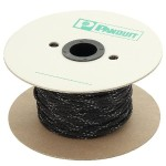 "Braided Expandable Sleeving, Flame Retardant, Polyethylene Terephthalate, 0.13"" x 200', Black"