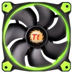 Riing 12 High Static Pressure LED Radiator Fan (3 Fans Pack) - Green