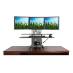 "One touch ultra sit-stand workstation - Stand for PC & Apple iMac monitors - Holds up to four 27"" monitors"