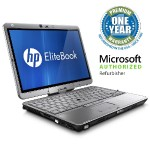"EliteBook 2760p Intel Core i5-2540M Dual-Core 2.60GHz Tablet PC - 8GB RAM, 120GB SSD, 12.1"" HD LED Touchscreen, Gigabit Ethernet, 802.11a/b/g/n, Bluetooth, HD Webcam, 6-cell Li- Polymer - Refurbished"