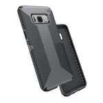 Presidio Grip Cell Phone Case for Samsung Galaxy S8 - Graphite Grey/Charcoal Grey