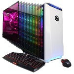 Gamer Master GMA4800PCM with AMD Ryzen 5 1600X 3.60GHz CPU, 16GB DDR4, NVIDIA GTX 1070 8GB, 1TB HDD, 120GB SSD, 10 Colors LED Case Lighting, 7 Colors Gaming Keyboard, USB Gaming Mouse & Win 10 Home 64-Bit