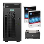 Smart Buy ProLiant ML10 Gen9 Intel Core i3-6100 Dual-Core 3.70GHz Tower Server - 4GB RAM, no HDD, DVD-RW, Gigabit Ethernet plus 1 Pack 1TB RDX Remove Disc-Cart and HP RDX+ External Docking Station