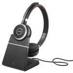 Evolve 65 MS stereo - Headset - on-ear - Bluetooth - wireless