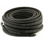 100ft Premium 3.5mm Stereo Male to 3.5mm Stereo Male 22AWG Cable (Gold Plated) - Black
