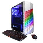 Gamer Master GMA3200PCM with AMD Ryzen 5 1400 3.2GHz CPU, 16GB DDR4, AMD RX 580 4GB, 2TB HDD, 24X DVD+-RW, Custom LED Case Lighting, Win 10 Home 64-Bit, 7 Colors Gaming Keyboard & USB Gaming Mouse