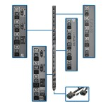 17.3kW 3-Phase Vertical PDU Strip, 208V Outlets (42 C13 & 12 C19), 0U Rack-Mount, Accessory for Select ATS PDUs