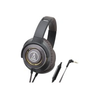Audio - Technica SOLID BASS ATH-WS770iS - Headphones with mic - full size - 3.5 mm jack - gunmetal ATH-WS770ISGM