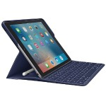 "Backlit Keyboard Case with Apple Pencil holder and Smart Connector for iPad Pro 9.7"" - Blue"