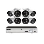 1080p Camera system with 8-channel DVR and 8 1080p Outdoor Security Cameras